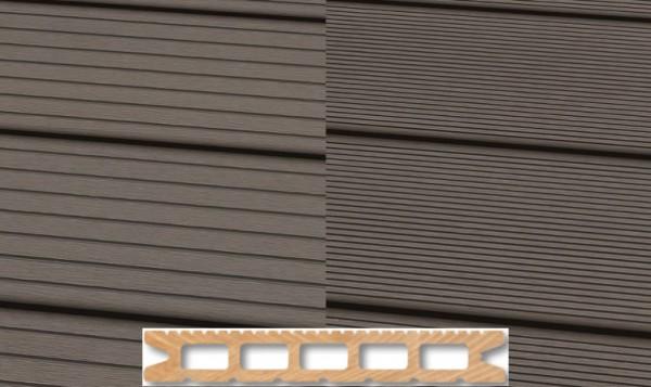WPC Terrassendiele 22 x 143mm Hellgrau in 4 Längen