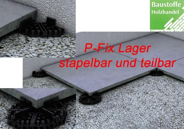 P-Fix Plattenlager für Terrassenplattenverlegung auf festem vorhandenem Untergrund