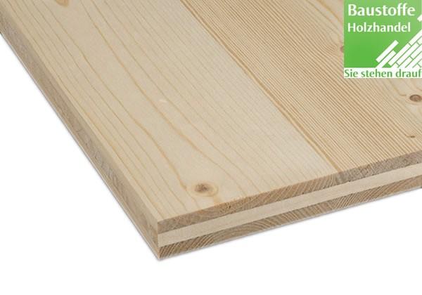 3-Schicht Massivholzplatten Fichte und Douglasie 5000mm x 2050mm in 4 Stärken