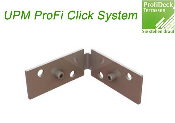 UPM ProFi Click Eckverbinder für Aluminium UK. Ermöglicht feste und stabile 90 Grad Verbindungen ohne zu schrauben.
