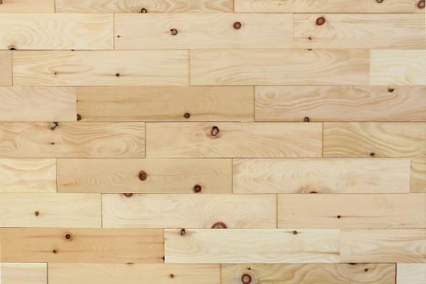 Wodewa Holzriemchen Zirbe 1m² in Strukturiert geölt