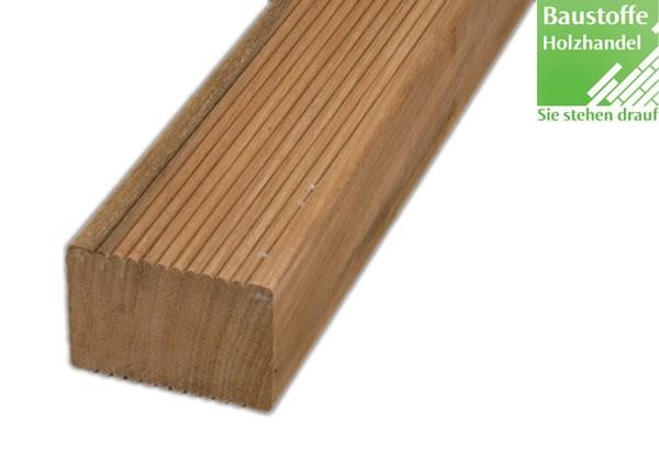 Bangkirai Yellow Ballau Holz Unterkonstruktion 45x70mm fein geriffelt, glatt