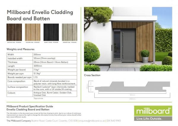 Millboard Fassade Envello Board & Batten in 4 Farben