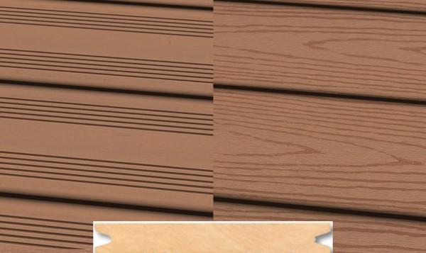 Massiv WPC Terrassendiele 22 x 143mm Hellbraun französich / strukturiert in 4 Längen