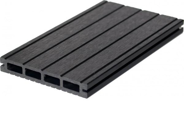 WPC Terrassendiele 22 x 143mm Dunkelgrau gerillt / genutet in 4 Längen