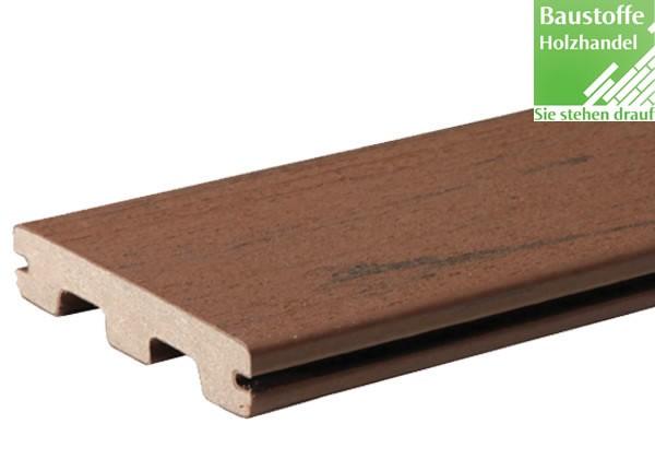 Timbertech WPC Massivdiele Brown Oak, Kollektion Terrain, 24x136mm seitl. genutet (auch ungenutet)