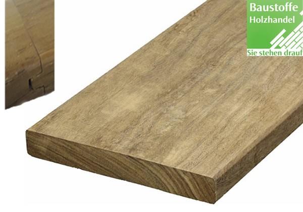 Momoqui System Terrassendiele 21x120mm glatt, Nut und Feder Kopfseitig