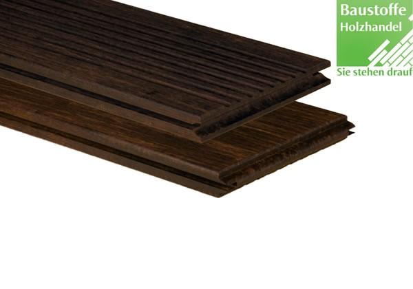 Bambus Select Terrassendiele Mokka 20x137x1850mm genutet / glatt