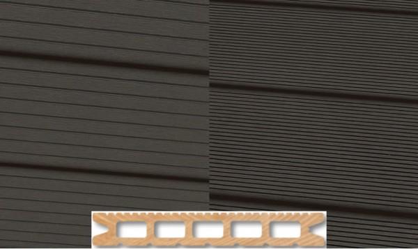 WPC Terrassendiele 22 x 143mm Dunkelgrau in 4 Längen
