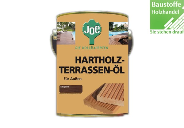 JOE Hartholt Terrassenöl naturgetönt 2,5Liter