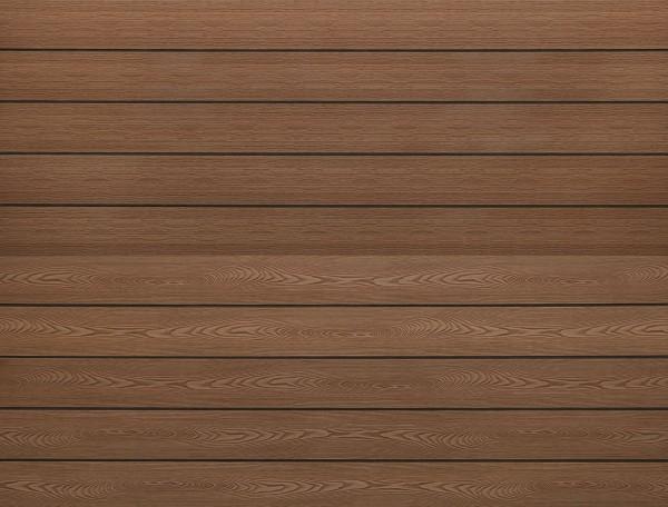 WPC massiv Terrassendiele 22 x 143mm Hellbraun Holzstruktur / Gebürstet in 4 Längen