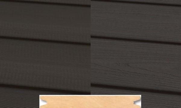 Massiv WPC Terrassendiele 22 x 143mm Dunkelgrau geprägt / geriffelt in 4 Längen