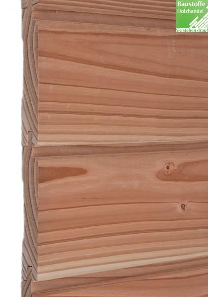 MOCOPINUS Fassade A-Profil (Schattennut), (APR 01 fe) gehobelt Douglasie