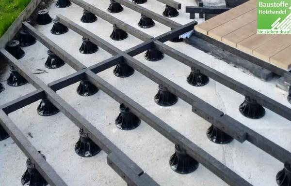 Millboard Plas Pro Unterkonstruktion 50mm x 50mm x 2400mm Schwarz