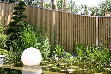 System Sichtschutz Zaun Bambus Bambooline