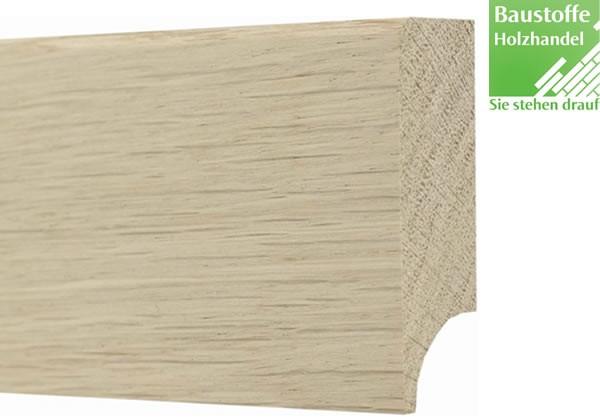 Sockelleiste Massivholz Eiche astrein 15 x 60mm unbehandelt