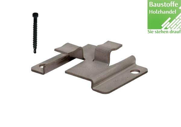 WPC Atrox Terrassenclip Edelstahl für WPC und Aluminium UK