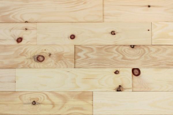 Wodewa Holzriemchen Zirbe 1m² in Strukturiert in zwei Oberflächen