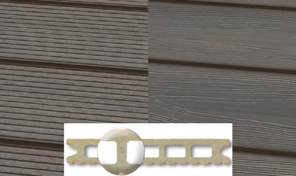 WPC Terrassendiele 22 x 143mm Granit in 4 Längen