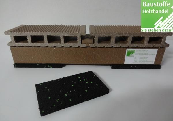 Terrassen Gummigranulat Unterlage 8x60x100mm