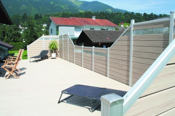 UPM Fence WPC Sichtschutzzaun komplett- hier den Bestpreis holen