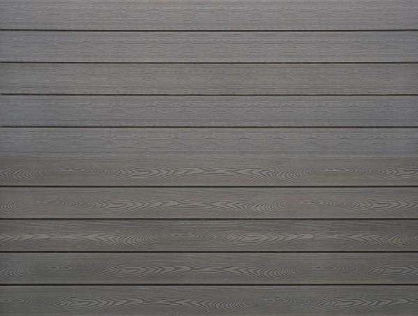 WPC massiv Terrassendiele 22 x 143mm Hellgrau Holzstruktur / Gebürstet in 4 Längen