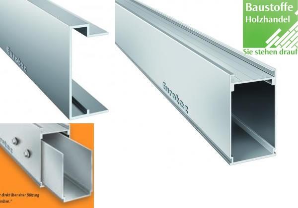 Aluminium Unterkonstruktions System HKP 60x100mm von Eurotec in 4m Längen Alu
