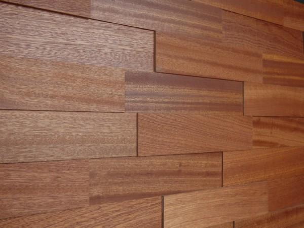 Wodewa Holzriemchen Mahagoni 1m² in zwei Oberflächen