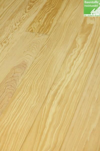 Landhausdiele Pitch Pine in 3 Stärken und 2 Breiten mit umlaufend Nut+Feder+Fase
