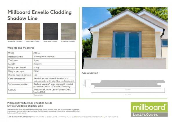 Millboard Fassade Envello Shadow Line in 4 Farben