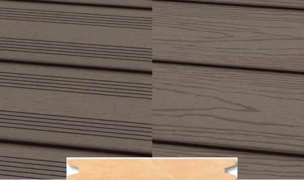 Massiv WPC Terrassendiele 22 x 143mm Hellgrau französich / strukturiert in 4 Längen