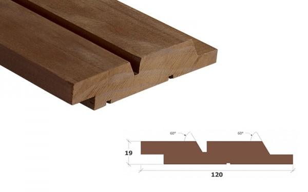 Kebony Clear Wechselfalz Doppelprofil 60° Fassadenbrett 19x120mm