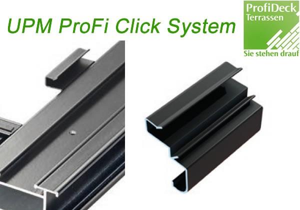UPM ProFi Click Start und End Clip ermöglicht das schnelle Verlegen der ersten und letzten UPM Terrassendiele.