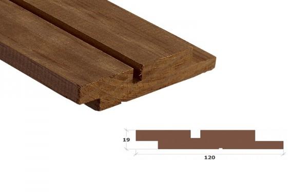 Kebony Clear Wechselfalz Doppelprofil 90° Fassadenbrett 19x120mm