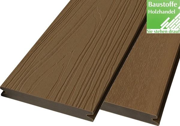 WPC Terrassendiele Atrox 22x143mm Wood Dunkelbraun in 4 Längen