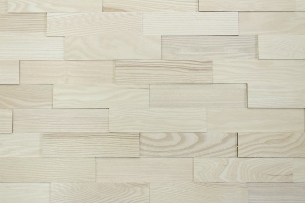 Wodewa Holzriemchen Esche 1m² in zwei Oberflächen