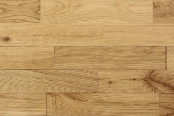 Wodewa Holzriemchen Eiche Natur 1m² in drei Oberflächen