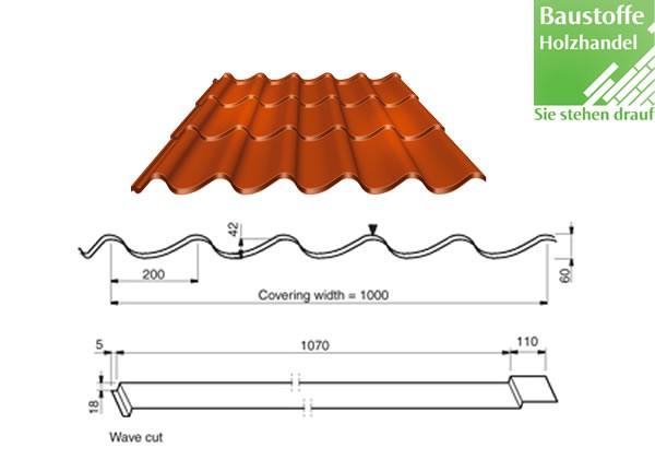 Stahlblech Dachprofile in 16 Farben hier anfragen