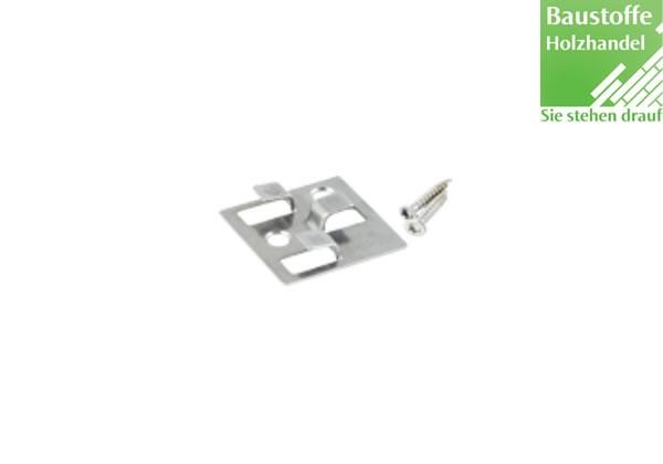 WPC Terrassenclip Edelstahl für WPC und Aluminium UK, Fugenbreite 4mm