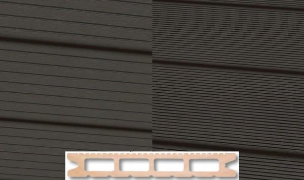 WPC Terrassendiele 22 x 146mm Dunkelgrau in 4 Längen