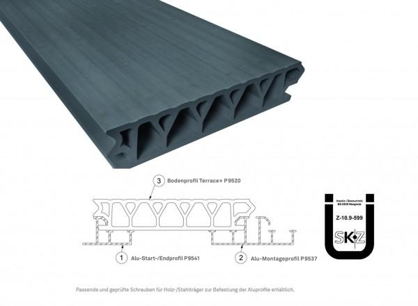 Twinson Terrace Plus Schiefergrau 32 x 167mm mit bauaufs. Zulassung in 4,5m und 6m Längen
