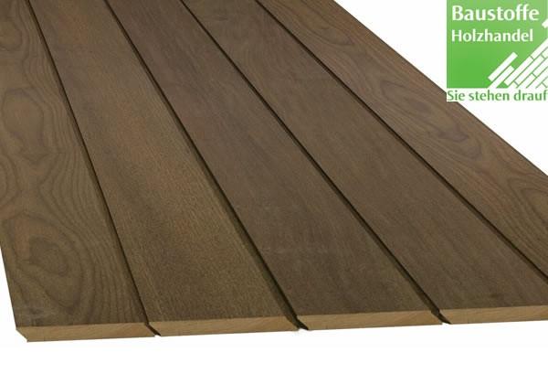 Ipe System Terrassendiele 21x135mm glatt mit Schrägfalz und Nut+Feder Kopfseitig zur Endlosverlegung