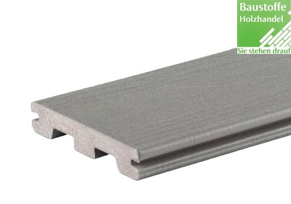 Timbertech WPC Massivdiele Stone Ash, Kollektion Terrain, 24x136mm seitl. genutet (auch ungenutet)