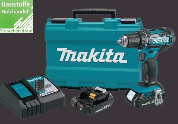 Makita Akku Bohrschrauber Set, Ladegerät, 2 Akkus im Koffer