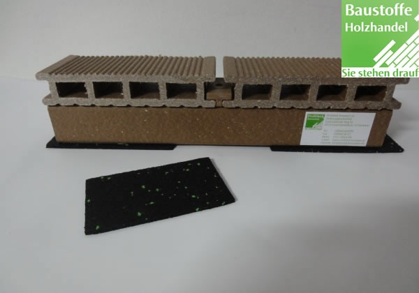 Terrassen Gummigranulat 3x60x100mm