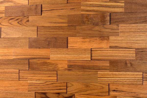 Wodewa Holzriemchen Teak 1m² in zwei Oberflächen