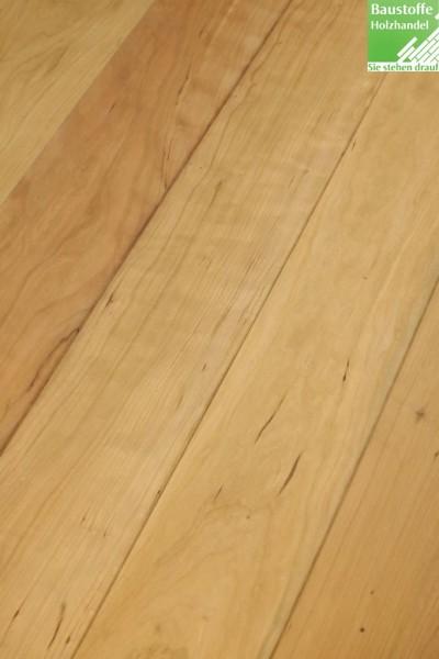 Landhausdiele Kirschbaum elegant und rustikal in 15x140 und 20x140mm mit umlaufend Nut+Feder+Fase