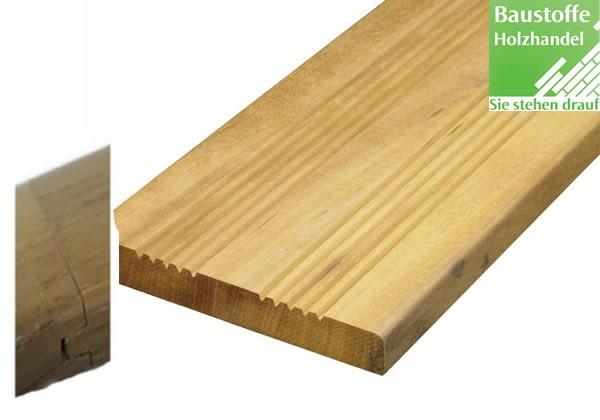 Garapa System Terrassendiele 21x145mm franz-glatt, Nut und Feder kopfseitig zur Endlosverlegung
