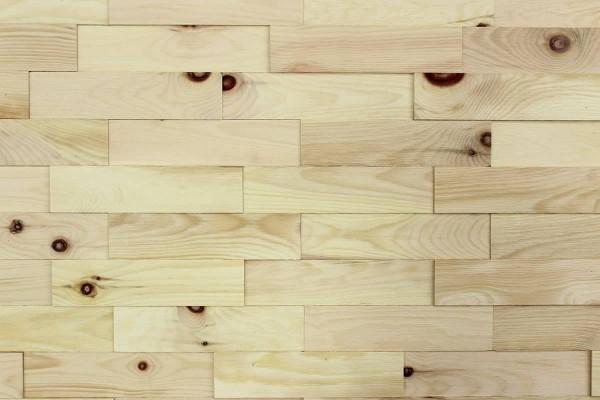 Wodewa Holzriemchen Zirbe strukturiert natur 1m²