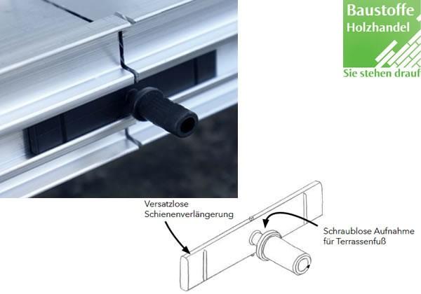 Aluminium Unterkonstruktion Verlängerungsclip reloa 40 Stück/VE